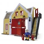 набор игровой для игры на улице Simba Пожарный Сэм, Пожарная станция (со звуком и светом)
