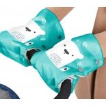 рукавички для коляски Ника Медвежонок (РС2), изумрудный