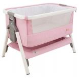 колыбель Tutti Bambini CoZee бело-розовая