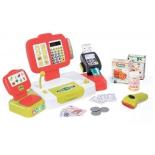 набор игровой для игры на улице Smoby 350107 (электронная касса с аксессуарами, 27 предметов), красный