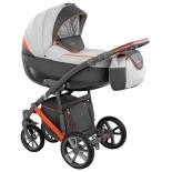 коляска Camarelo Piro (2 в 1) PR-7, черно-серая с оранжевым