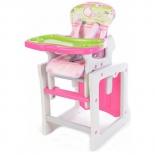 стульчик для кормления Ber Ber Tiesto розовый трансформер