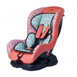 автокресло детское Liko Baby 303 C 0-1 (0-18кг), Розовый/Обезьянки