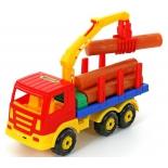 игрушки для мальчиков Автомобиль-лесовоз Полесье Престиж