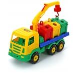 игрушки для мальчиков Контейнеровоз Полесье Престиж