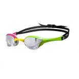 очки плавательные Arena Cobra Ultra Mirror cеребро/зеленый/розовый, 1E032 569