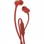 гарнитура проводная для телефона JBL T110, красная