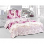 комплект постельного белья Tete-a-Tete Classic,  нав. 50x70*2 и 70x70*2, бязь, евро, к-8083, Орхидея