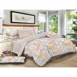 комплект постельного белья ЭГО 1,5-спальный , нав. 70х70*2, Э-2079-01, полисатин, Биелла