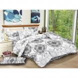 комплект постельного белья ЭГО 1,5-спальный, нав. 70х70*2, Э-2080-01, полисатин, Верона