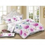 комплект постельного белья ЭГО Евро, Э-2073-03, полисатин, Леричи 70x70*2