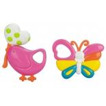 игрушка для малыша Набор погремушек Жирафики Птичка и бабочка