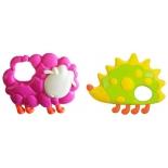 игрушка для малыша Набор погремушек Жирафики Овечка и еж