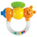 игрушка для малыша Погремушка-прорезыватель Жирафики Пчёлка Мая с дудочкой