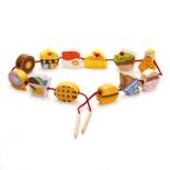 игрушки для девочек Шнуровка - бусы Mapacha Продукты (76515)