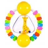 игрушка для малыша Прорезыватель-погремушка Жирафики Радужный жирафик