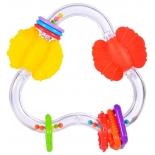 игрушка для малыша Прорезыватель-погремушка Жирафики Цвет и форма