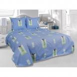 комплект постельного белья Tete-a-Tete Classic бязь, 2-спальный, нав. 70х70*2, Ирисы, Э-1090-01