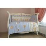 детское постельное белье комплект Подушкино Зверушки (бязь, 6 предметов), голубой
