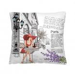 подушка декоративная Волшебная ночь (40x40см) Кафе в Париже