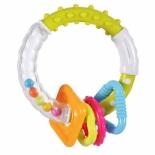 игрушка для малыша Погремушка-прорезыватель Жирафики Звонкое колечко, зеленое