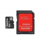 карта памяти Sandisk Ultra MicroSDHC 8Gb Class4, с SD-адаптером