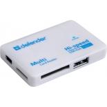 устройство для чтения карт памяти Defender COMBO TINY (встроенный USB-хаб на 3 порта)