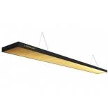 светильник потолочный Weekend Longoni Compact, черный, золотистый отражатель (205х31х6см)