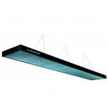 светильник потолочный Longoni Compact, бирюзовый отражатель (320х31х6 см) черный