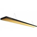 светильник потолочный Longoni Compact, золотистый отражатель (287х31х6 см) черный