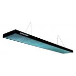 светильник потолочный Longoni Compact, бирюзовый отражатель (287х31х6 см) черный