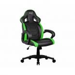 игровое компьютерное кресло Aerocool AC60C AIR-BG, черно-зеленое