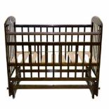 Детская кроватка Briciola 9, темная, купить за 6 090руб.