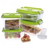 контейнер для хранения STATUS, набор VAC-REC-Smaller для вакуумных упаковщиков, зеленый