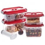 контейнер для хранения STATUS, набор VAC-REC-Smaller для вакуумных упаковщиков, красный