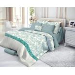комплект постельного белья Verossa 1,5-спальный, cатин, нав. 50х70*2, Azure