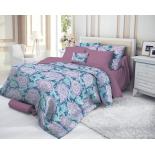 комплект постельного белья Verossa 1,5-спальный, cатин, нав. 50х70*2, Persian Lotus
