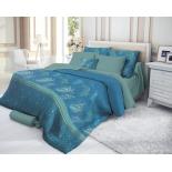 комплект постельного белья Verossa 1,5-спальный, cатин, нав. 50х70*2, Emerald