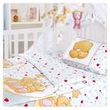детское постельное белье Облачко нав. 40х60*1, хлопок, Влюбленный медвежонок