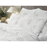 комплект постельного белья Verossa евро, страйп, нав. 70x70*2 и 50x70*2, Серебряный вальс