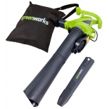Воздуходувка Greenworks GBV2800 (воздуходувка-пылесос, электродвигатель, 2800 Вт), купить за 5 167руб.