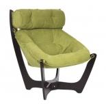 кресло мягкое Мебель Импэкс Модель 11 каркас венге, обивка Verona Apple green
