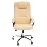 кресло офисное TetChair Максима (крестовина хром), бежевое