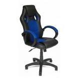 игровое компьютерное кресло TetChair Рейсер GТ, черное/синее