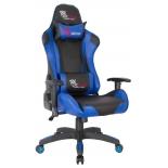 игровое компьютерное кресло College XH-8062LX, черный/синий