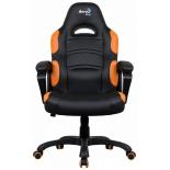 игровое компьютерное кресло Aerocool AC80C AIR-BO, черно-оранжевое
