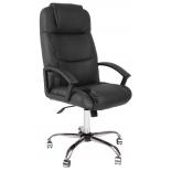 кресло офисное TetChair Бергамо (крестовина хром), черное