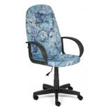 компьютерное кресло TetChair LEADER ткань, Карта на синем