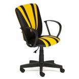 компьютерное кресло TetChair SPECTRUM кож/зам, 36-6/36-14, черный/жёлтый