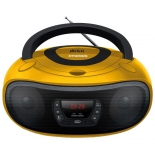 магнитола  Hyundai H-PCD300, желтая/черная